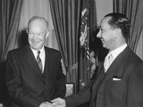 President Eisenhower with Crown Prince Abdul Ilah of Iraq Photo