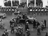 Eisenhower Waves from an Open Car in the Inaugural Parade Photo