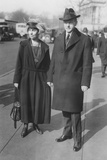 Vice President Elect Calvin Coolidge and Grace Goodhue Coolidge, in Washington, D.C. Photo