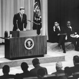 John Kennedy's First Press Conference as President Photo