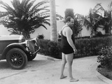 Chicago Gangster Al Capone Wearing a Bathing Suit at His Florida Home Photo