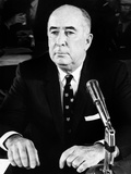 John Mitchell before Senate Judiciary Committee on March 14, 1972 Photo