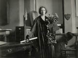 Physicist Irene Joliot-Curie in Full Academic Regalia on May 23, 1921 Photo