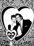 Lucille Ball, Left, and Desi Arnaz, Wishing their Fans a Happy Valentine's Day, 1956 Photo