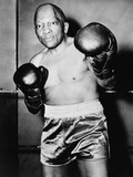 Former Heavyweight Champion Jack Johnson in Boxing Pose Photo