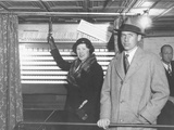 John Coolidge and His Wife Florence Trumbull Coolidge Voted in New Haven, Ct Photo
