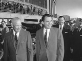 President Eisenhower Seeing Richard Nixon Off at National Airport Photo