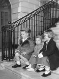 President Eisenhower's Grandchildren at the White House Photo