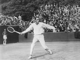 Bill Tilden Playing Tennis in a Tournament at St. Cloud, France, Outside of Paris Photo