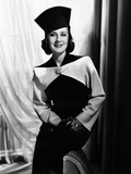 Norma Shearer, Modeling a Black and White Fall Suit, 1938 Photo