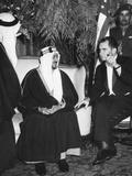 Vice President Nixon with Saudi Arabia King, Saud Ibn Abd Al-Aziz Al-Saud Photo