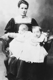 Daisy Hilton and Violet Hilton, Conjoined Twins, at Age 18 Months Photo