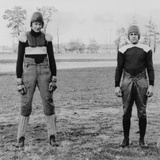 Notre Dame University Football Players Wearing Old and New Football Uniforms Photo