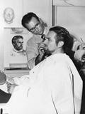 Makeup Artist Ben Nye Working on Actor Douglas Fairbanks, Jr Photo