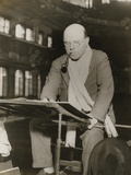 Pablo Casals at Rehearsal Conducting the Barcelona Philharmonic Orchestra Photo