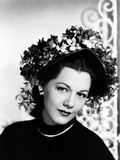 Maria Montez, Modeling a Violet-Colored Straw Bonnet Trimmed with Violets, 1946 Photo