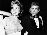 From Left, Terry Moore, James Dean, at the Premiere of Sabrina, 1954 Photo