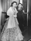 Queen Elizabeth II and Mamie Eisenhower in Evening Gowns at the British Embassy Photo