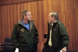 Pres. George W. Bush with Sec. of Defense Donald Rumsfeld, Sept. 15, 2001 Photo