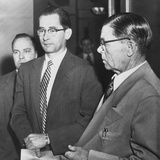 Dr. Albert Blumberg, an Accused and Admitted Communist, in Handcuffs, Oct. 20, 1954 Photo