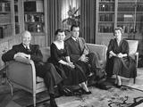 President and Mamie Eisenhower with Pat and Richard Nixon on Election Eve Photo