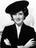 Norma Shearer, Modeling a Navy-Blue Felt Officer's Cap, 1936 Photo