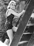 Barbara Hutton, Now Countess Von Haugwitz-Reventlow, Summering on Capri, Italy Photo