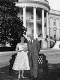 Dwight and Mamie Eisenhower on White House Lawn Photo