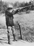 Pres. Calvin Coolidge Shooting Clay Pigeons at Bruel, Wisconsin. Sept. 5, 1928 Photo