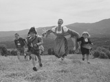 Mary Martin with Children in Mountain Landscape Photo