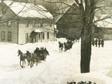 Pres. Calvin Coolidge Traveling by Sled to His Home in Plymouth Notch, Vermont Photo