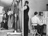 Color Television Is Demonstrated at Radiolympia Exhibition in London Photo