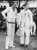 Bill Tilden (Right) Defeated Jean Borotra of France, in the Davis Cup Matches, Sept Photo