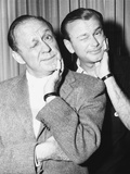 Jack Benny and Jack Parr Pose with Similar Facial Expressions, Dec. 2, 1959 Photo