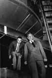 Robert Oppenheimer and Ernest Lawrence at the 184-Inch Cyclotron in 1946 Photo