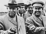 Georgie Malenkov and Nikita Khrushchev Visiting a Collective Farm in June 1954 Photo
