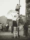 West Berliners in the French Sector Waved to Friends and Relatives in East Berlin Photo