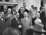 President Eisenhower Shakes the Hand of His 1952 Democratic Opponent Photo