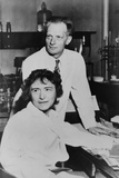 Dr. Carl Cori and Dr. Gerty Cori in their Laboratory at the Washington University Photo