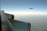 An F-16 Escorting Air Force One from Offutt Air Force Base in Neb Photo