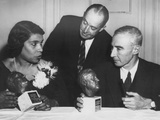 Concert Singer Marian Anderson and Physicist Dr. J. Robert Oppenheimer Honored Photo