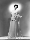 Maria Montez, Modeling a Pink Crepe Dinner Dress, 1944 Photo