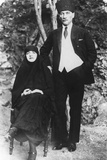 Mustapha Kemal Ataturk, President of Turkey and His Wife, Latife Hanouz Photo