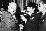 Indonesia's Neutralist President Sukarno with Soviet Premier Nikita Khrushchev Photo