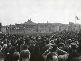 Charles De Gaulle Speaking at Marseilles, April 18, 1948 Photo