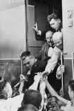 Premier Nikita Khrushchev Reaches Out for One Last Handshake from His Train Photo