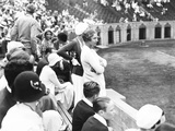 Helen Wills Moody Watching Tennis Match at Forest Hills, Long Island Photo