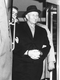 Handcuffed Carlo Gambino Is Led from Fbi Headquarters on March 23, 1970 Photo