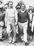 Walter Hagen and Henry Cotton During their 36 Hole Challenge Match, July 29, 1933 Photo