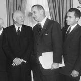 President Eisenhower and Future Presidents Lyndon Johnson and Richard Nixon Photo